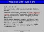 wire line e911 call flow