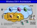 wireless e911 architecture