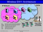 wireless e911 architecture1