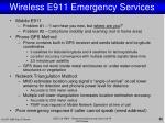 wireless e911 emergency services