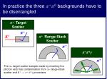 in practice the three 0 backgrounds have to be disentangled