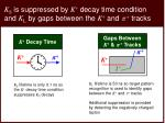 k s is suppressed by k decay time condition and k l by gaps between the k and tracks
