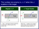 the number one enemy is 0 when the scatters in the target