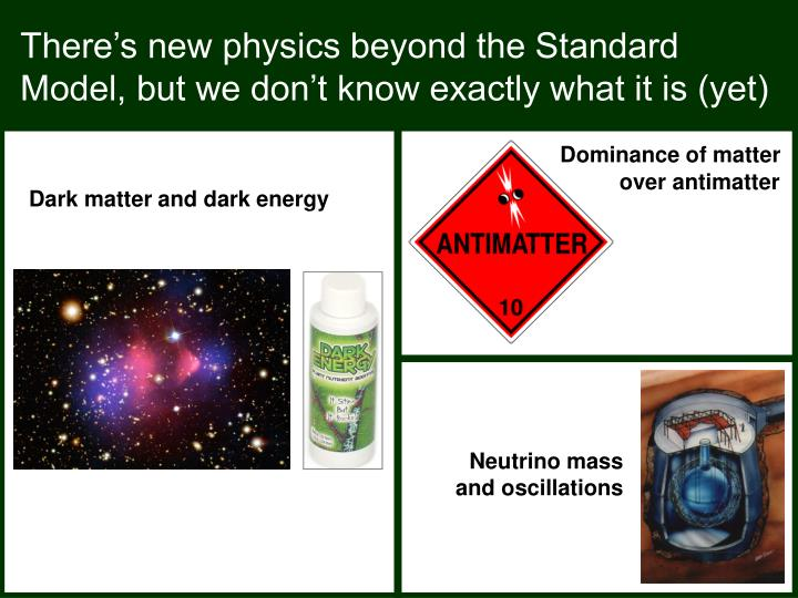 There's new physics beyond the Standard Model, but we don't know exactly what it is (yet)