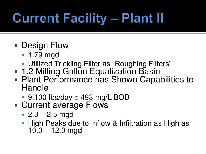 Current Facility – Plant II
