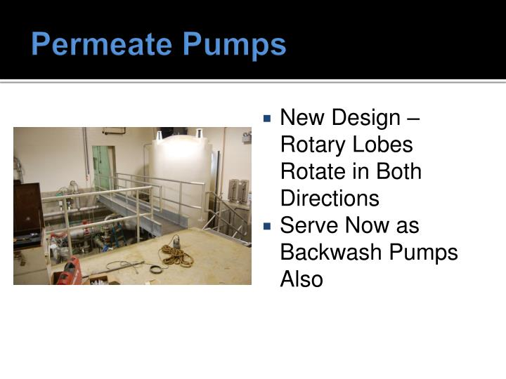 Permeate Pumps