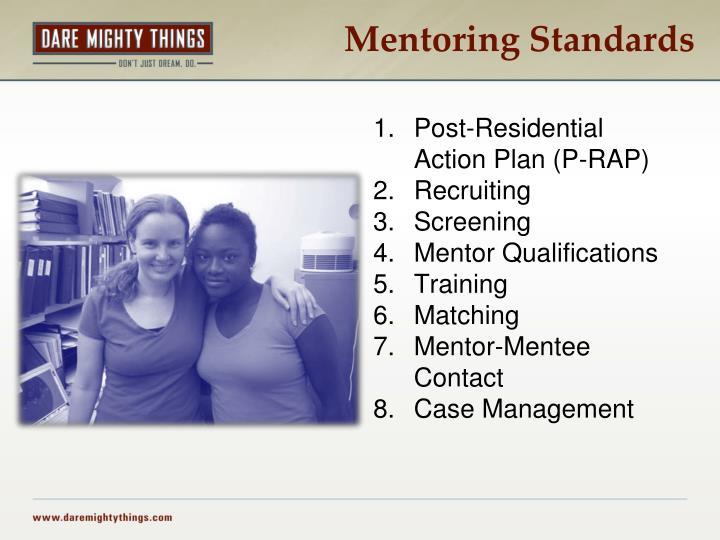 Mentoring Standards