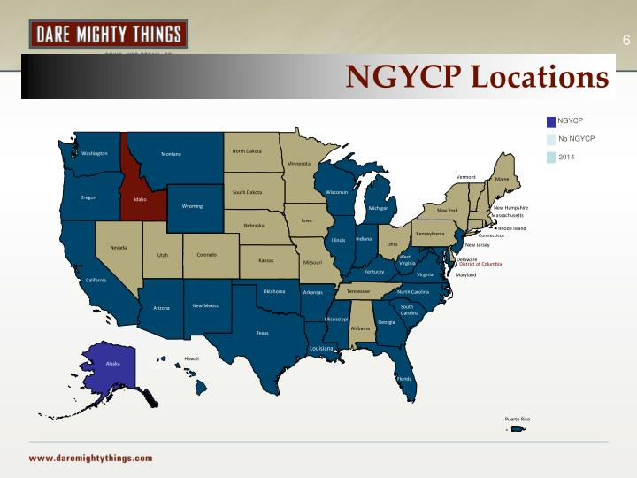 NGYCP Locations