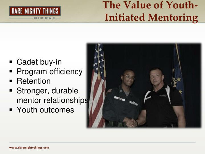 The Value of Youth-Initiated Mentoring