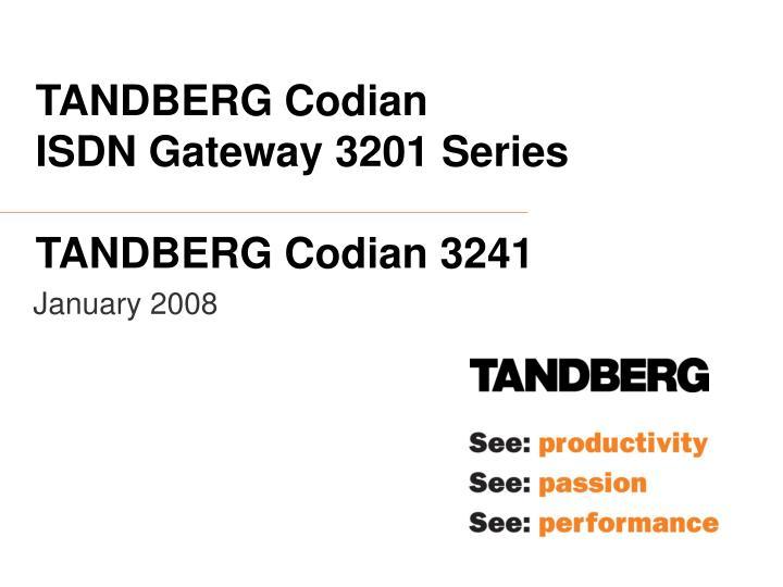 TANDBERG Codian