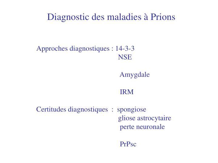 Diagnostic des maladies à Prions