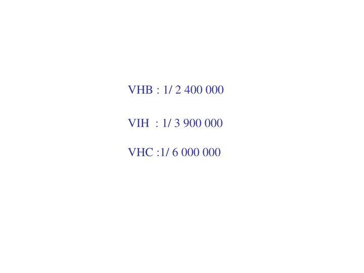 VHB : 1/ 2 400 000