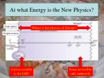 at what energy is the new physics