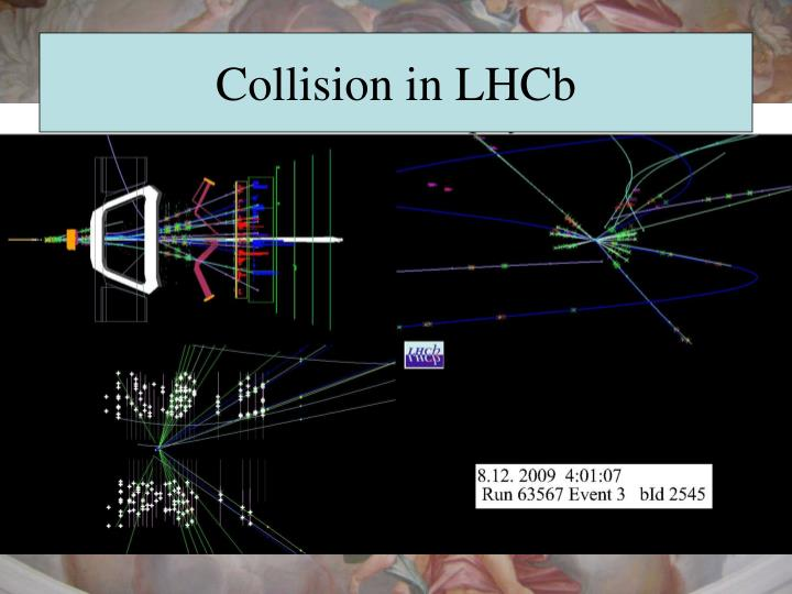 Collision in LHCb