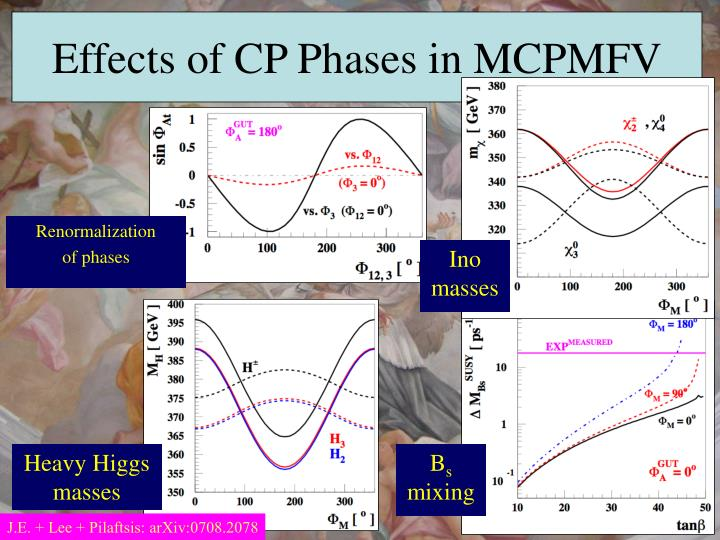 Effects of CP Phases in MCPMFV