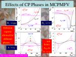 effects of cp phases in mcpmfv1