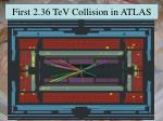 first 2 36 tev collision in atlas
