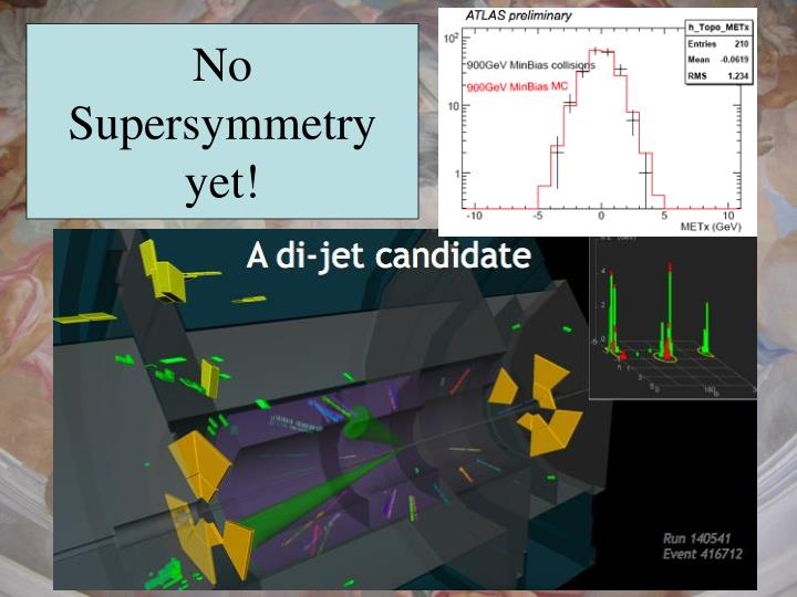 No Supersymmetry yet!