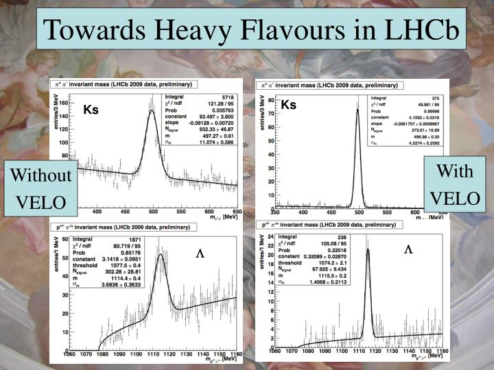 Towards Heavy Flavours in LHCb