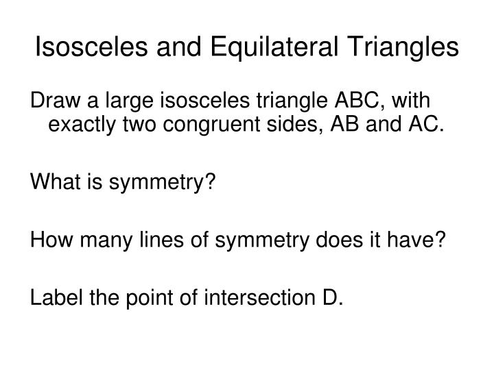 Isosceles and equilateral triangles1
