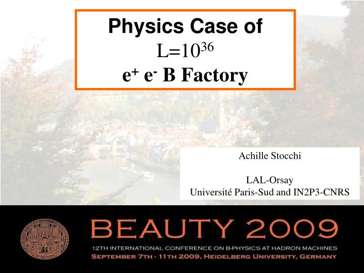 Physics Case of