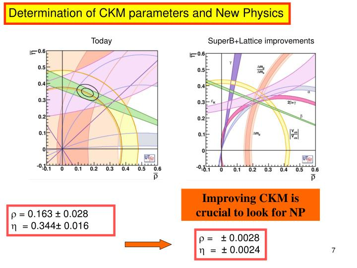 Determination of CKM parameters and New Physics