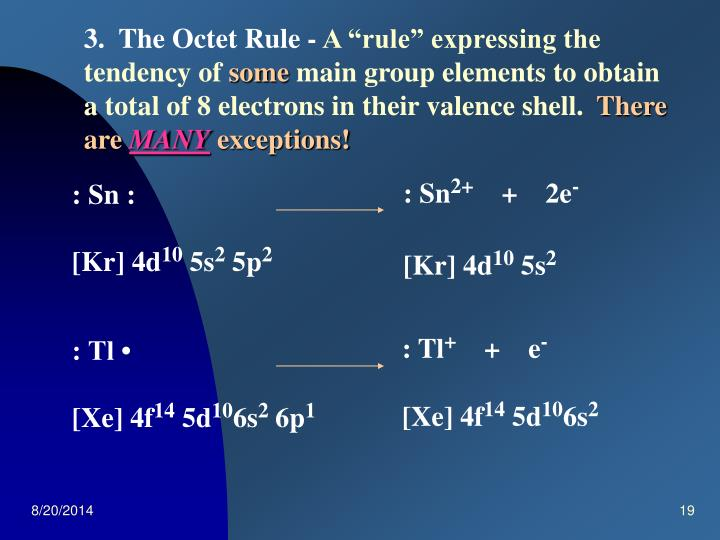 3.  The Octet Rule -