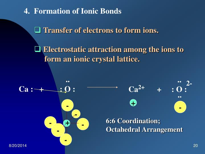 4.  Formation of Ionic Bonds