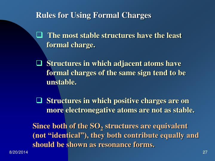 Rules for Using Formal Charges