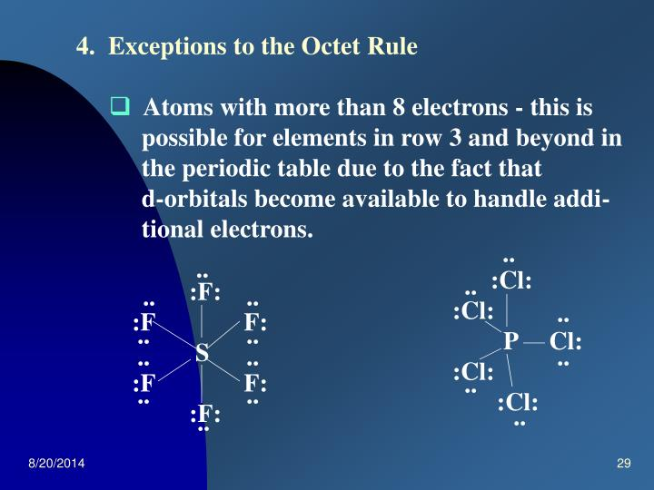 4.  Exceptions to the Octet Rule