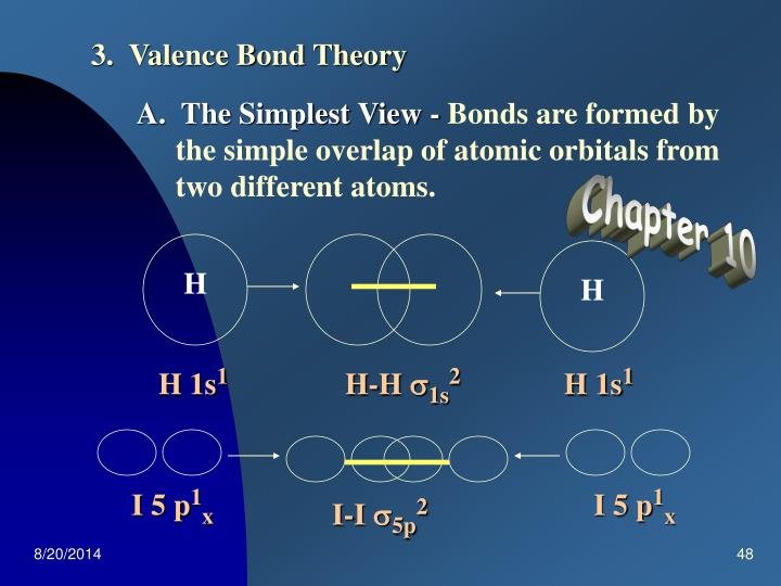 3.  Valence Bond Theory