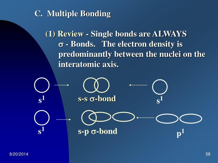 C.  Multiple Bonding
