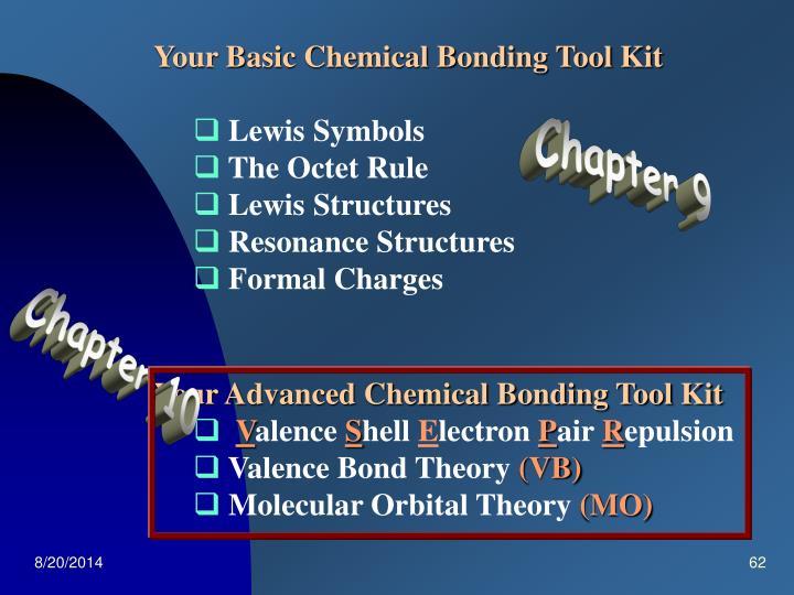 Your Basic Chemical Bonding Tool Kit