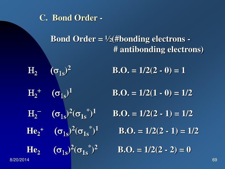 C.  Bond Order -