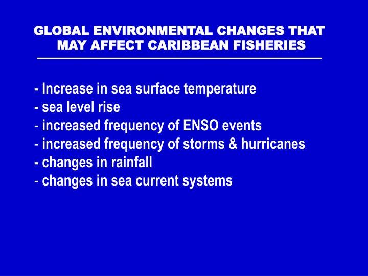 GLOBAL ENVIRONMENTAL CHANGES THAT
