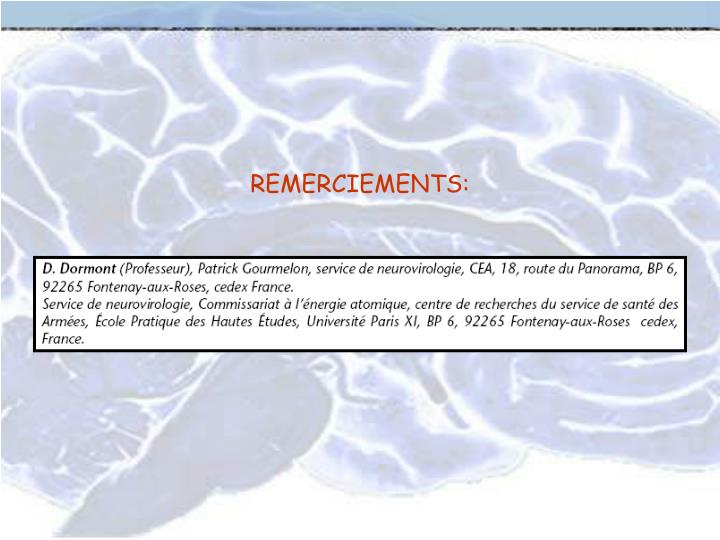 REMERCIEMENTS: