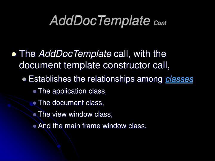 AddDocTemplate