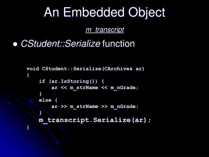 An Embedded Object