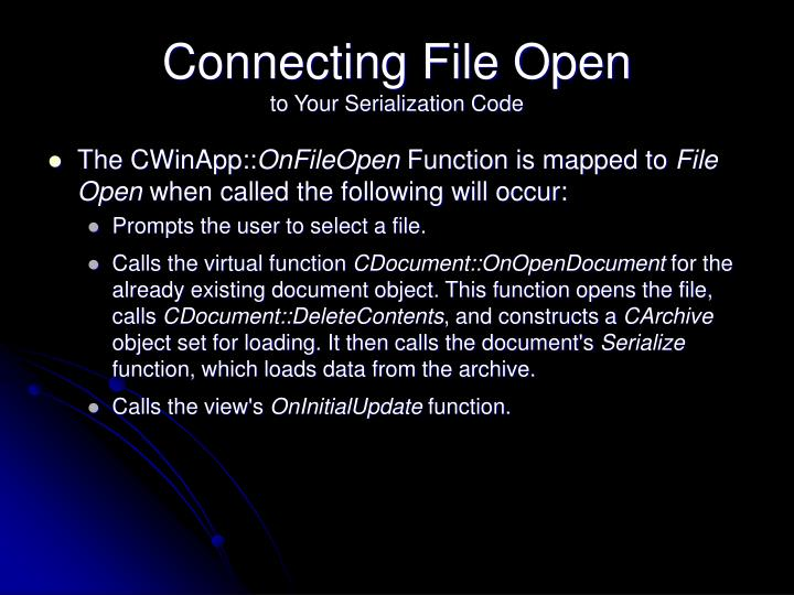 Connecting File Open