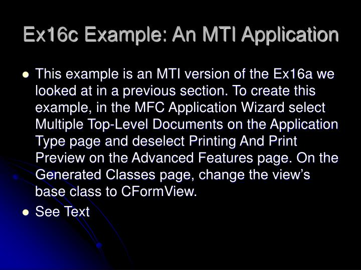 Ex16c Example: An MTI Application