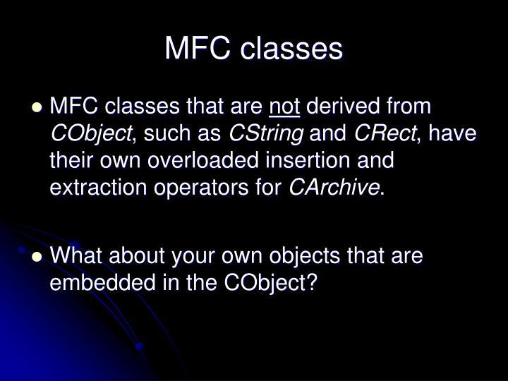 MFC classes