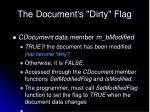 the document s dirty flag
