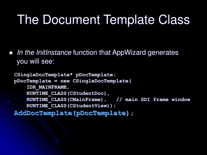 The Document Template Class