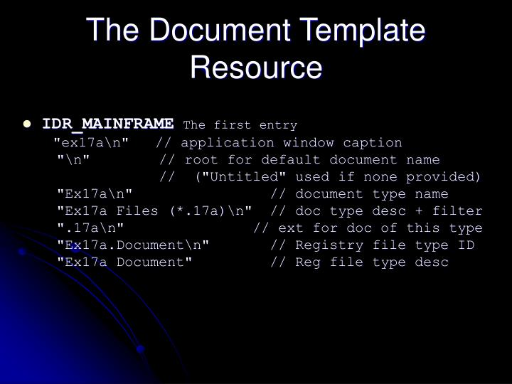 The Document Template Resource