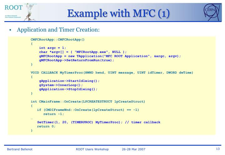 Example with MFC (1)