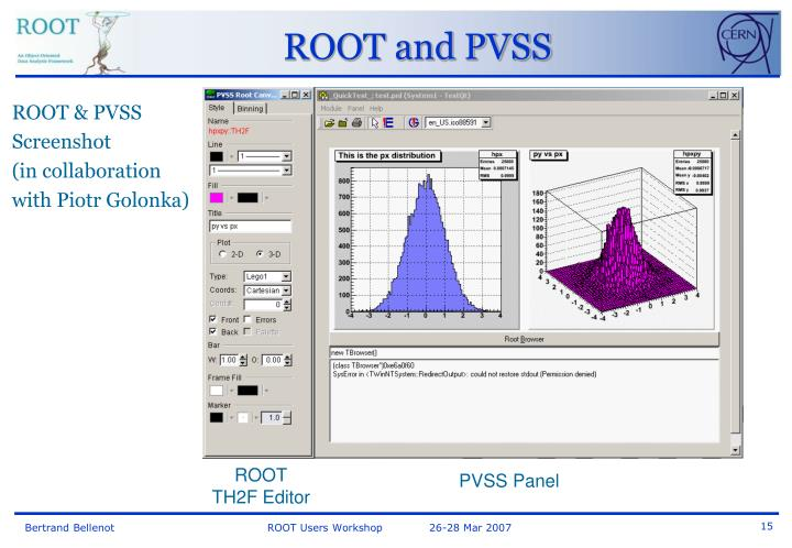 ROOT and PVSS