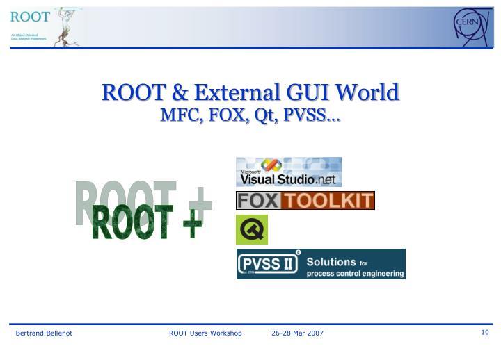 ROOT & External GUI World