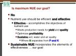 is maximum nue our goal2