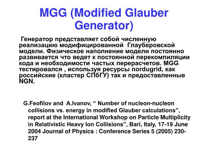 MGG (Modified Glauber Generator)
