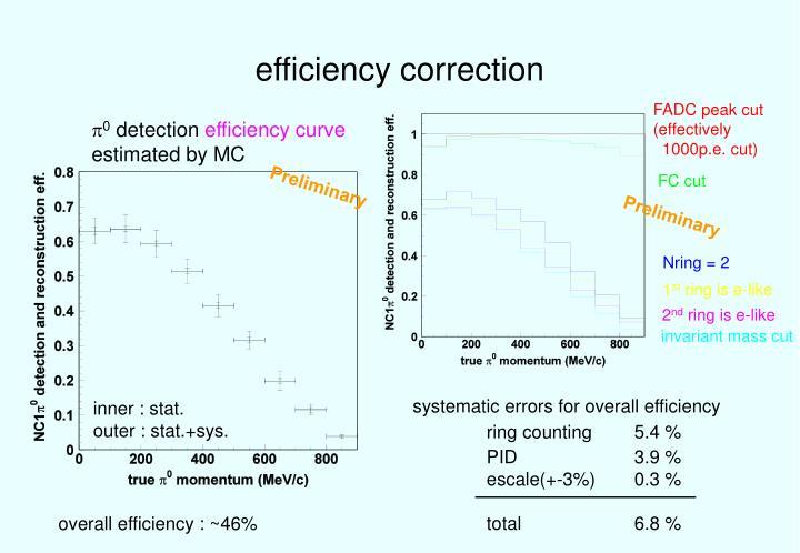 efficiency correction